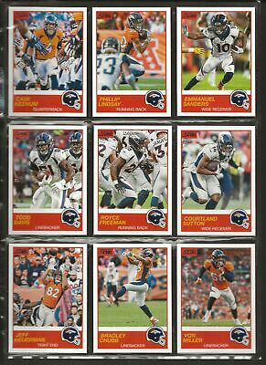 2019 Score Football Team Set with Base Veterans and Rookies Denver Broncos (F