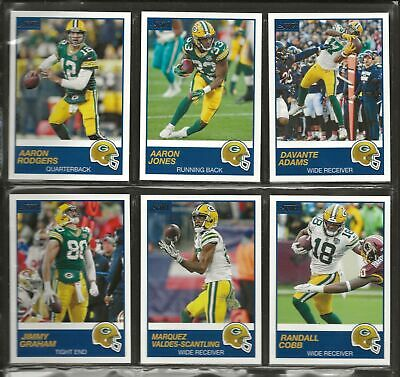 2019 Score Football Team Set with Base Veterans and Rookies Green Bay Packers (F