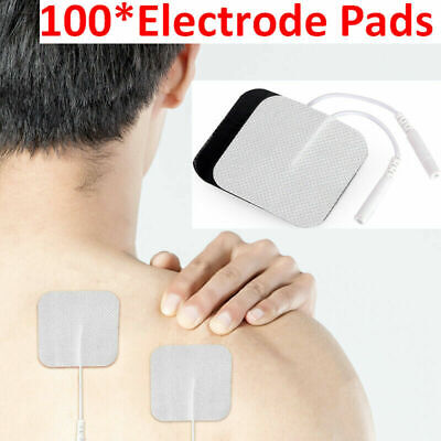 40x Replacement Tens Electrode Pads EMS for Units 7000 3000 4x4cm White Cloth US