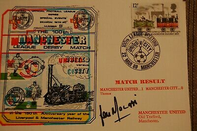 Man Und  Fdc Signed By Lou Macari