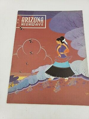 July 1956 Arizona Highways - Navajo Art - Flagstaff Pow Wow - Uranium Mining