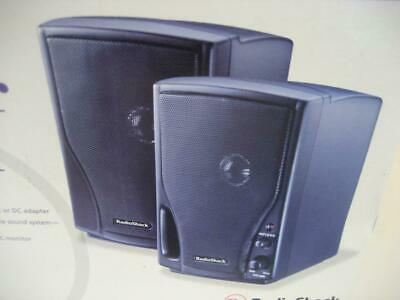 NEW Radio Shack AMX-7 Portable iPhone iPod MP3 Amplified Speaker System 40-1408