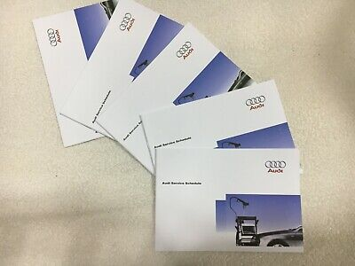Audi Service Book Genuine Brand New For All Models Petrol Diesel S3 S4 Rs4 S6 S8