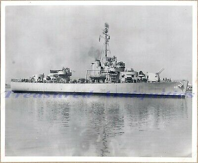 WWII US Coast Guard Mendota WPG/WHEC-69 Owasco Cutter Ship Commissioning Photo