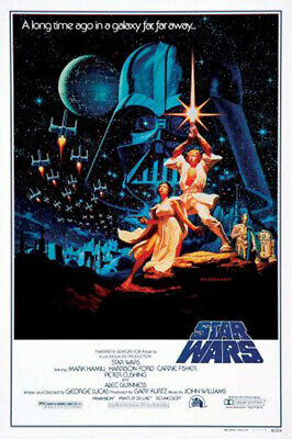 Star Wars (1977) movie poster style B reproduction - single-sided - rolled