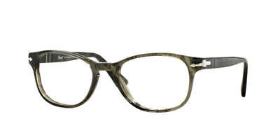 9796493be76c Persol Eyeglasses 3085V 1020 Striped Grey Optical Frame 51mm Made in Italy