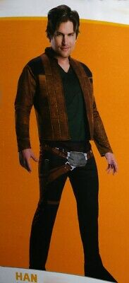 Mens Star Wars HAN SOLO Adult Halloween Costume Small Medium Large Purim NEW
