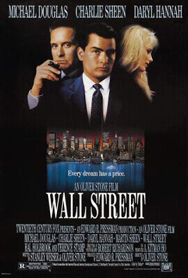 Wall Street (1987) original movie poster - single-sided - rolled