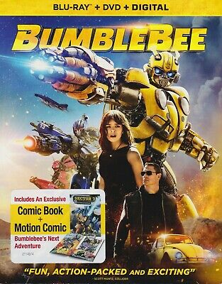 Bumblebee (Blu-ray/DVD, 2018, 2-Disc + Digital copy) w/slip, NEW!