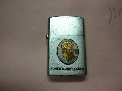 VINTAGE WWII WAC WOMEN'S ARMY CORPS CIGARETTE LIGHTER FORT McCLELLAN. ALABAMA