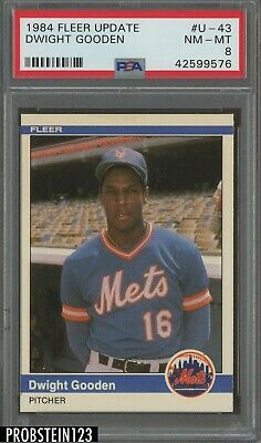 1984 Fleer Update #U-43 Dwight Gooden New York Mets RC Rookie PSA 8 NM-MT