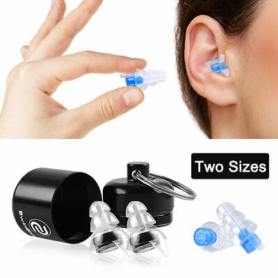 2x Noise Cancelling Ear Plugs Hear Protection for Sleeping Concerts Music Party