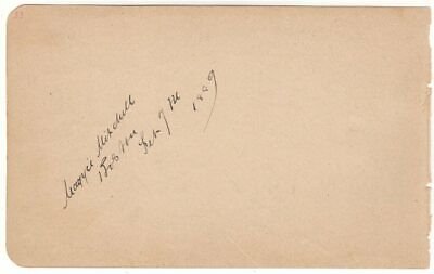 *STAGE: MAGGIE MITCHELL HENRY IRVING DIGBY BELL MAUD JEFFRIES 1880s AUTOGRAPHS*