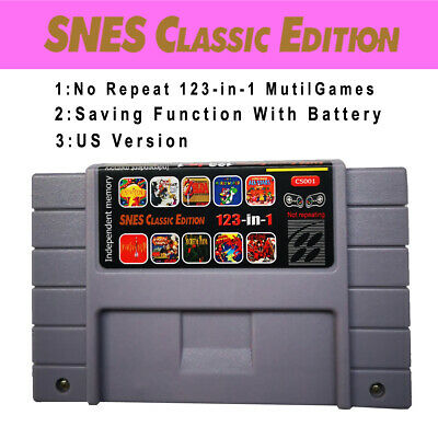 SNES Classic Edition Mutil-Games CS001 123in1 Not repeat With Saving Function