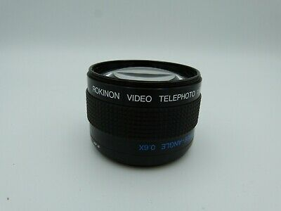 Rokinon Video Telephoto 1.6x / Wide Angle 0.6x Conversion Lens - Made in Japan