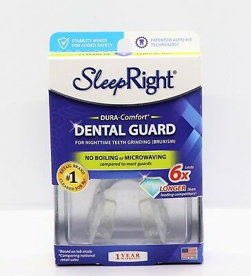 Sleep Right Dura-Comfort Dental Guard No Boil Prevent Teeth Grinding BPA Free