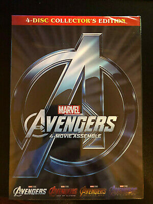 AVENGERS 1-4 DVD Film Collection Assemble, Age of Ultron, Infinity War Endgame