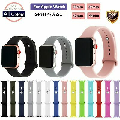 38/42mm Replacement Strap Soft Silicone Sport Band for Apple Watch Series 1/2/3