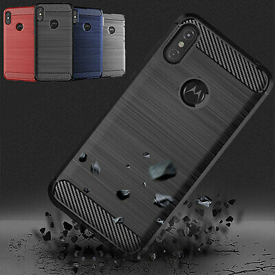 For Motorola Moto One Power Luxury Shockproof Hybrid Carbon Fiber Cover Case