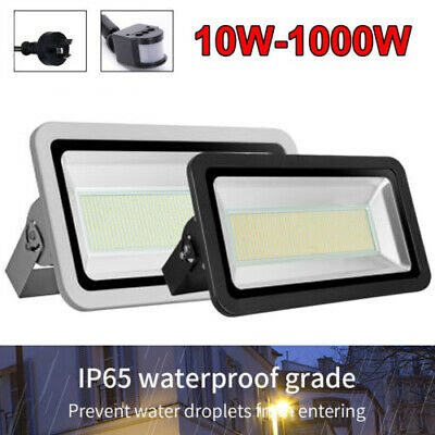 10W- 1000W LED Flood Light PIR Motion Sensor AU Plug Outdoor Floodlights 240V