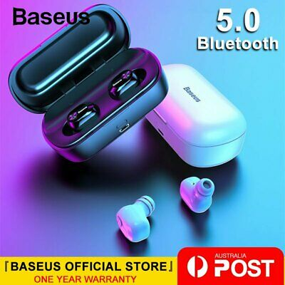 Baseus TWS Wireless Headphones Bluetooth 5.0 Sports Stereo Earphones Waterproof