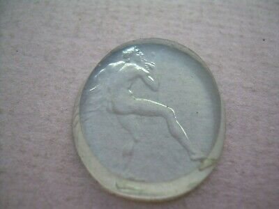 Antique Georgian Hardstone Rock Crystal Carved Intaglio Seal.
