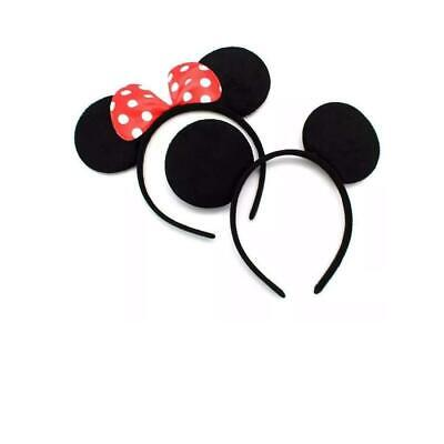 Mickey/Minnie Ears Headband - Pack of  2 ( Free Shipping_Assorted Colour)
