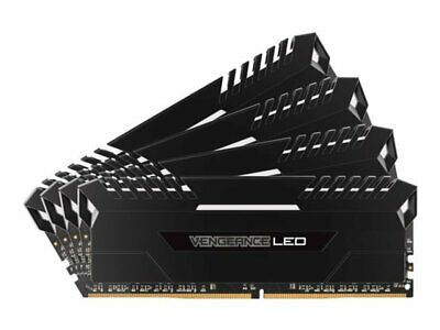 Corsair Vengeance LED 32GB (4x8GB) DDR4 DRAM 2666MHz C16 Memory Kit - White LED