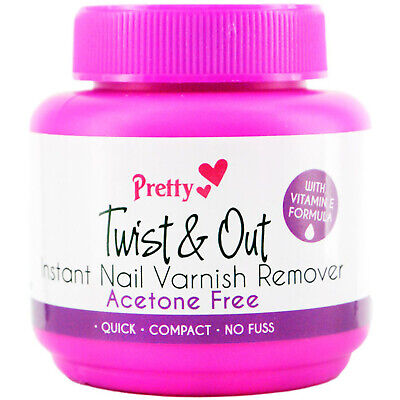Pretty Twist and Out Acetone Instant Nail Varnish Remover - 55 ml