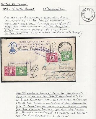 1937/8 Repetto Signed Coronation Cover Type Vi Cachet 2 Sets Postage Dues Crabb