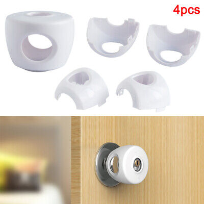 Child Proof Door Knob Cover 4PCS Set Baby Children Security Safety Kids Proof