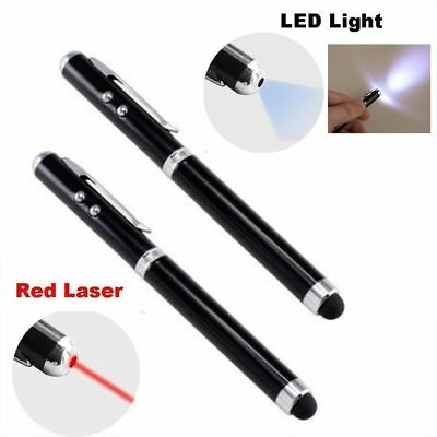 4in1 Laser Pen Screen Stylus Pointer Touch For Capacitive Touch Screen LED Hot