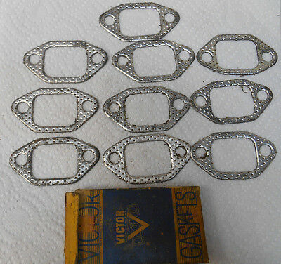 Lot of 10 Vintage NOS Victor 40's 50's Cadillac GM Exhaust Manifold Gaskets