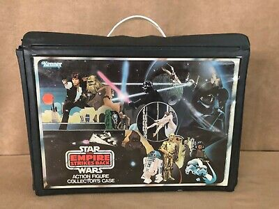 Vintage 1980 Star Wars Empire Strikes Back Action Figure Collector Case storage