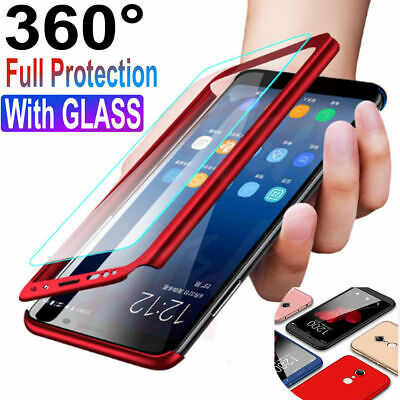 360° Full Case + Screen Protector For Samsung Galaxy S8 S9 Plus Note 8 9 S7 Edge