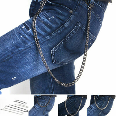 Lady Men Hip Hop Biker Rock Trucker Keychain Pants Key Jean Wallet Waist Chain