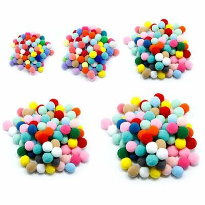 Luxury Pastel Multitone Craft Pom Poms100 Pack