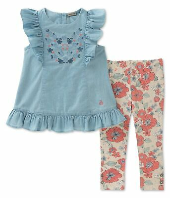 Calvin Klein Girls Floral 2-Piece Set Tunic Top assorted 5 - Little Kids (4-7)