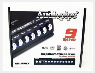 Audiopipe EQ909X 9-Band Graphic In-Dash Equalizer