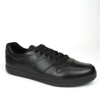 d0bc0151 PRADA MEN SHOES Bluette technical fabric black rubberized leather ...