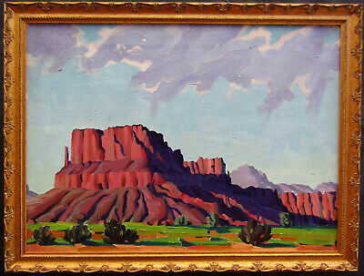 Old Impressionist and Plein Air Southwest Desert Landscape Oil Painting NO RES.
