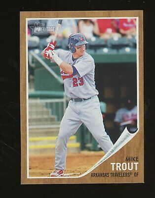 2011 Topps Heritage Minor League Mike Trout Angels RC Rookie