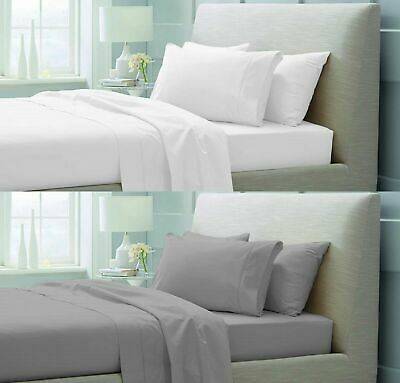 600Tc 40Cm Extra Deep Fitted Sheet 100% Egyptian Cotton Double Super King Size