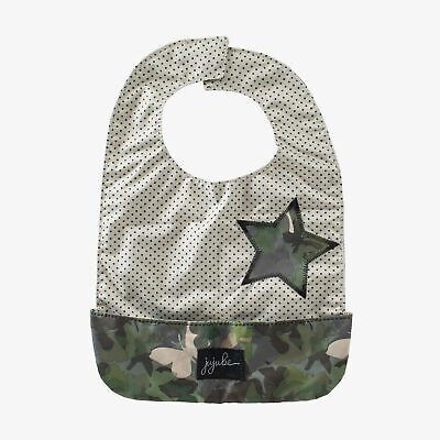 JuJuBe Be Neat Reversible Baby Bib Butterfly Forest