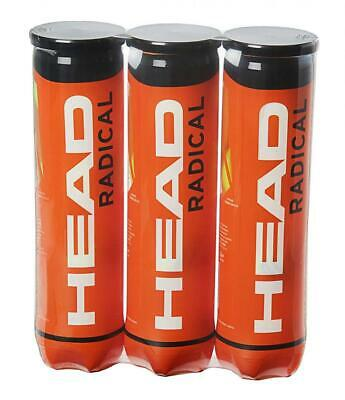 HEAD Radical Tennis Balls, Triple Pack (12 Balls), of 12, Yellow