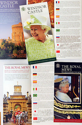 Windsor Castle & Buckingham Palace Royal Mews Leaflet Guides Queen Elizabeth 11