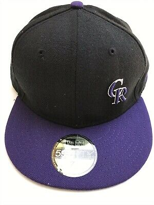 cheap for discount c992a dd0d3 New Era Colorado Rockies ALT 59Fifty Fitted Hat (Black Purple) MLB Cap 7