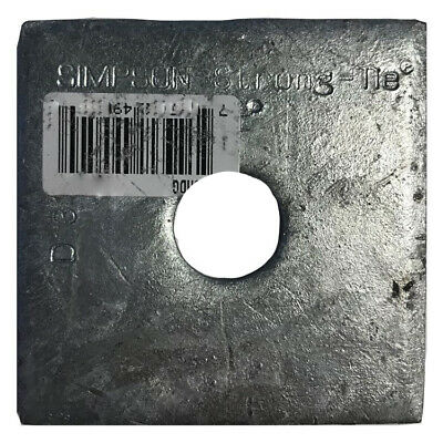 """Simpson Strong-Tie BP-1/2-3HDG 1/2"""" Bolt Dia. 3"""" x 3"""" Bearing Plate Galvanized"""