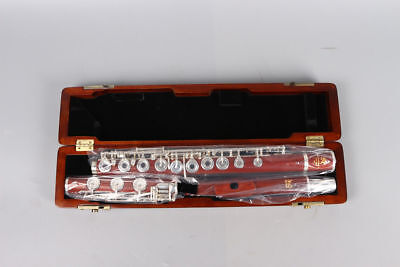 Professional Rosewood flute 17 hole Open Silver Plated Key E key B Foot