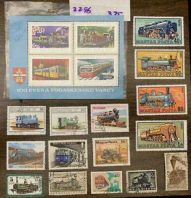 [Lot 467] All Different Topical Trains/Railroad Worldwide Stamp Collection